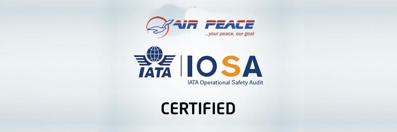 Certifié Airpeace IATA IOSA